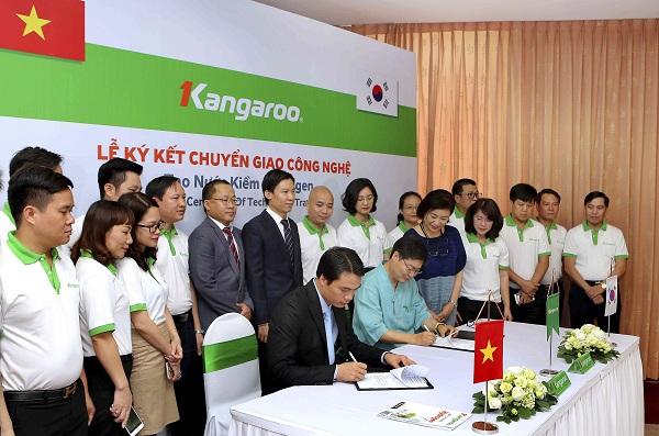 Kangaroo ký kết Chuyển giao công nghệ Tạo nước Kiềm Hydrogen với Tập đoàn Công Nghệ Hàn Quốc_1