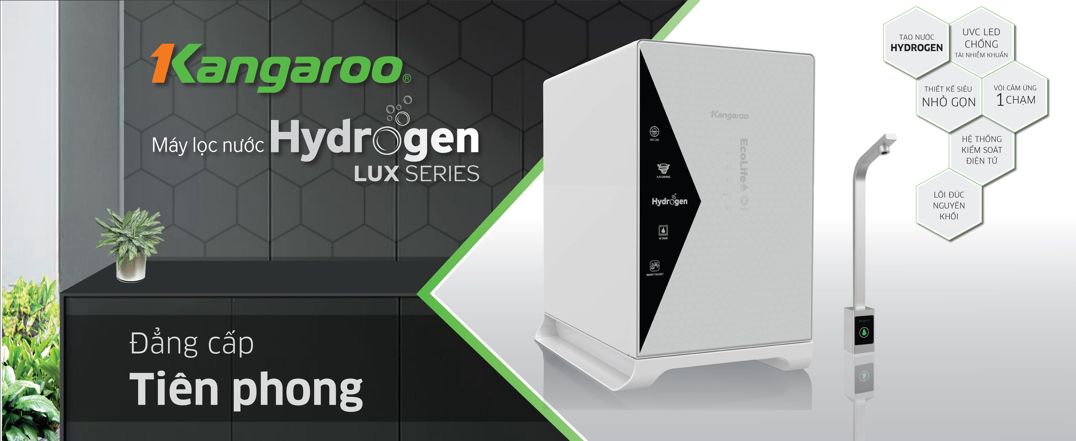 Máy lọc nước Kangaroo Hydrogen Lux Series với nhiều công nghệ hiện đại được lần đầu tiên cho ra mắt trên thị trường