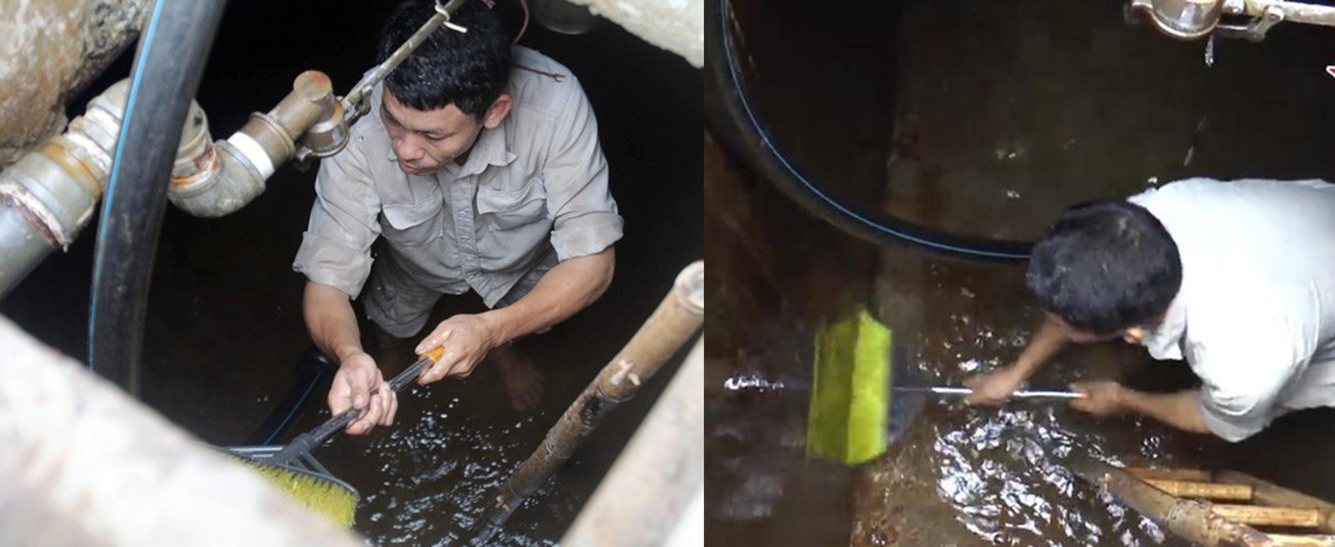Cách thau rửa nước nhiễm dầu styren bằng chổi và nước thông thường có sạch styren?