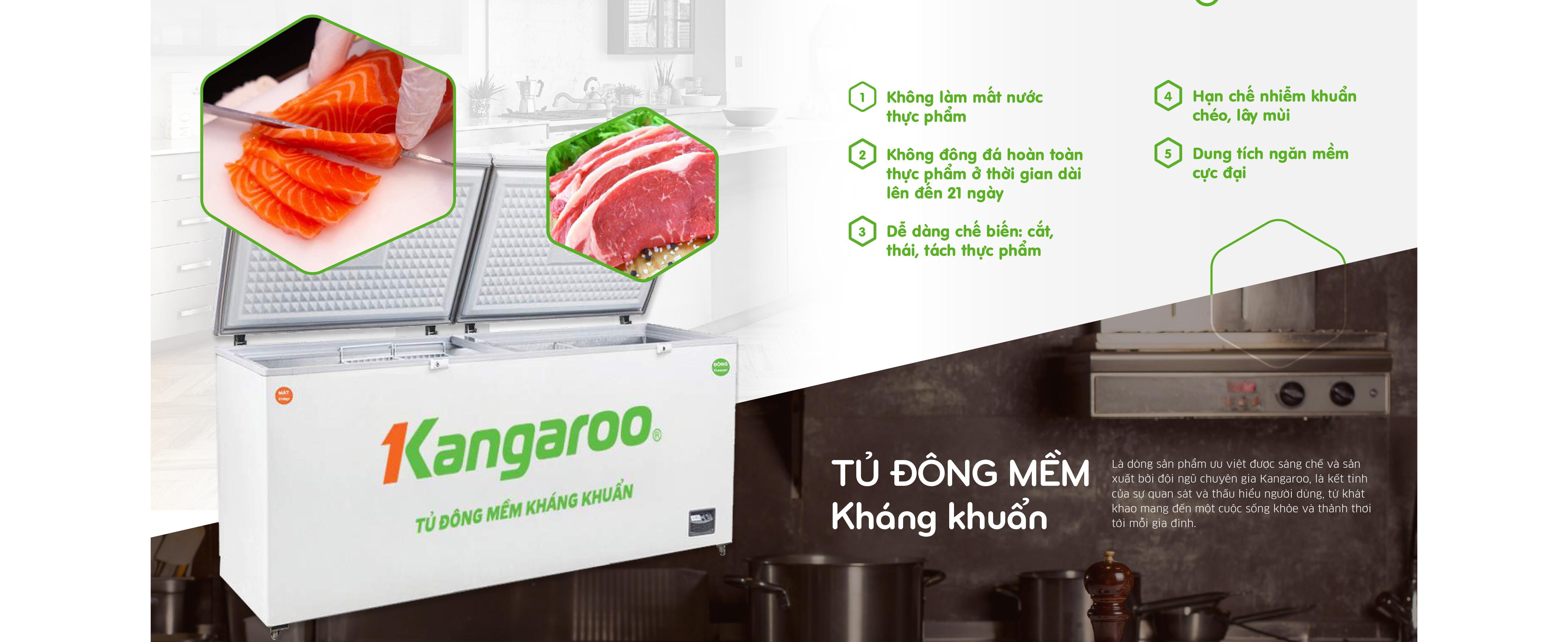 Tủ đông mềm kháng khuẩn Kangaroo