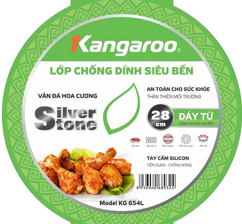 Chảo nhôm chống dính Kangaroo KG654L