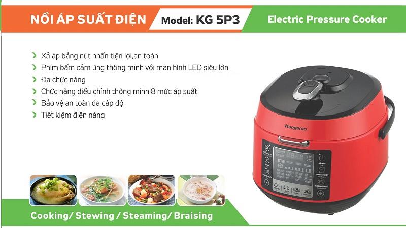 Nồi áp suất điện Kangaroo KG5P3