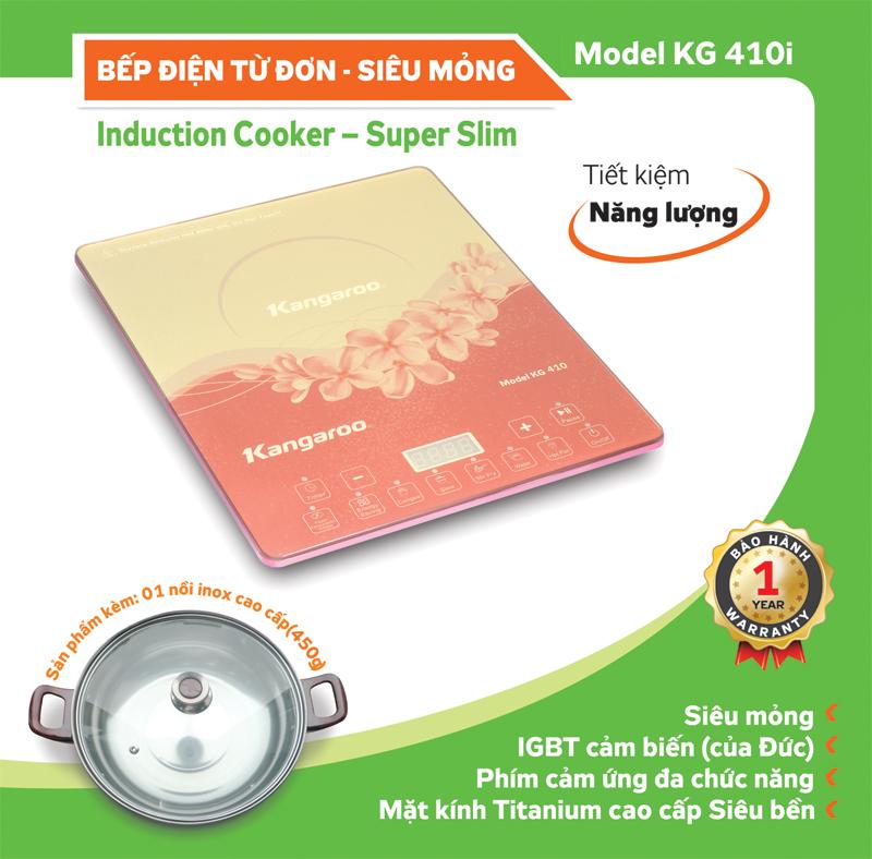 Đặc tính kỹ thuật Bếp điện từ Kangaroo KG410