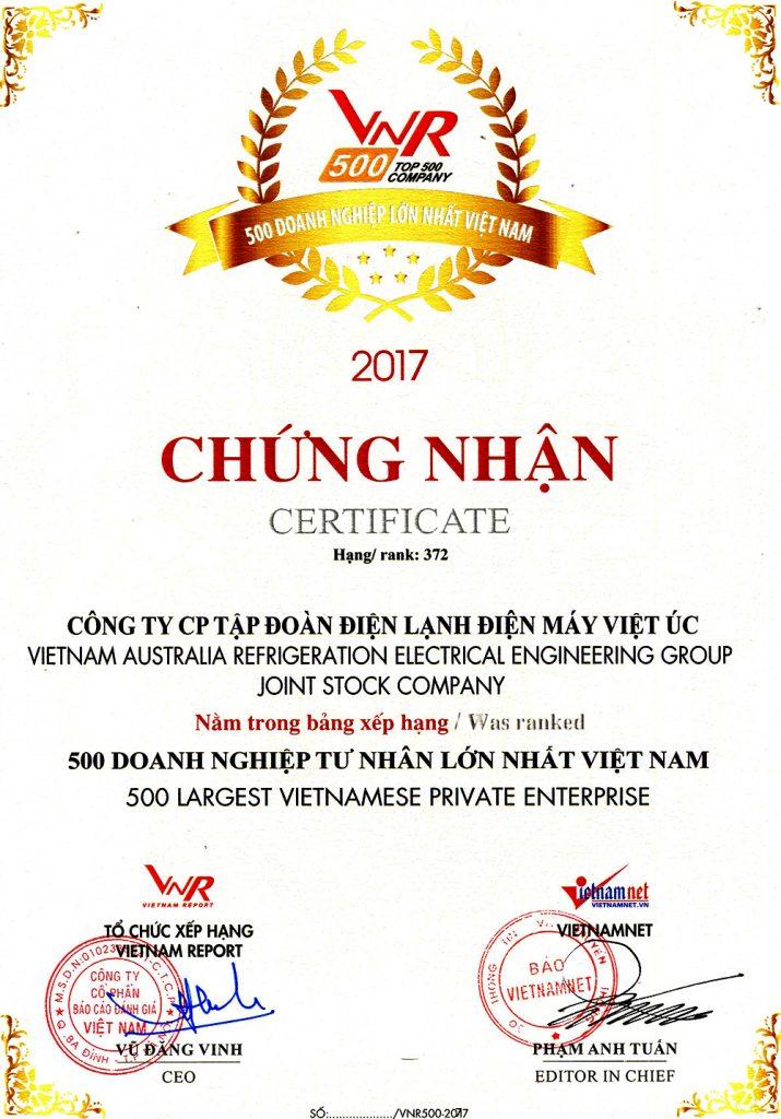 Tap doan Kangaroo vinh danh trong top 500 doanh nghiep tu nhan lon nhat Viet Nam