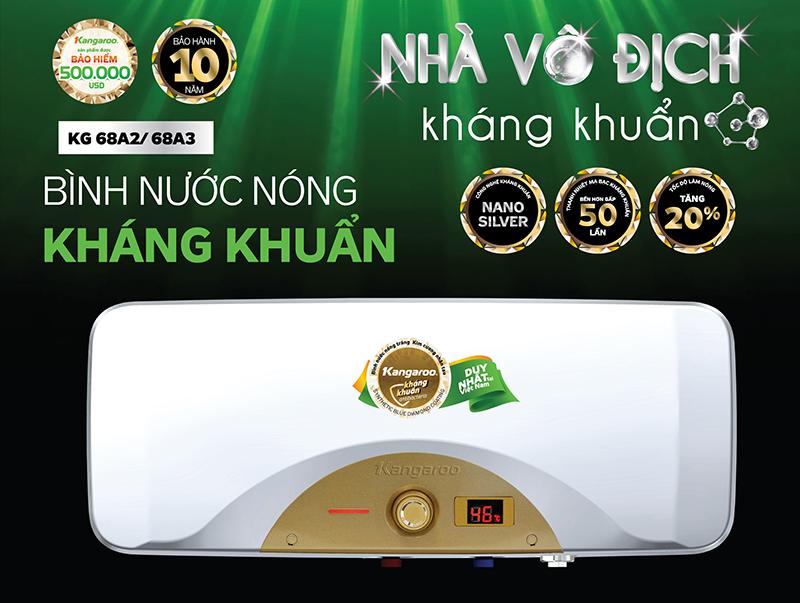 Binh nuoc nong khang khuan Kangaroo KG68A2