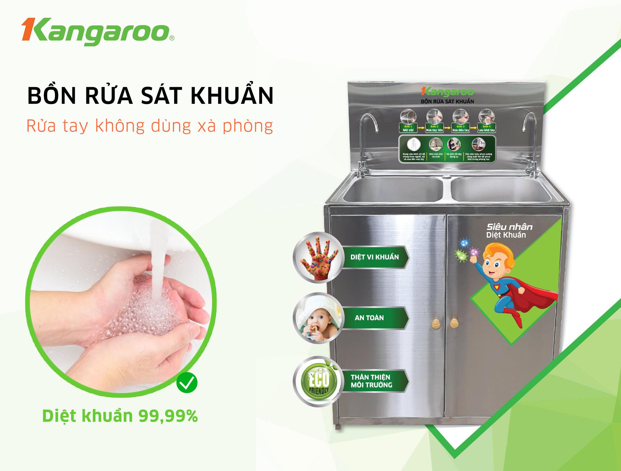 Bồn rửa tay sát khuẩn Kangaroo