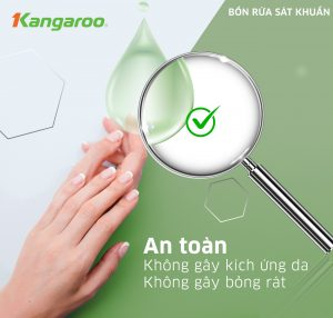 Bồn rửa tay sát khuẩn Kangaroo An toàn không gây kích ứng da