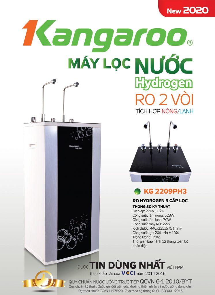 Máy lọc nước Kangaroo Hydrogen Nóng lạnh KG2209PH3