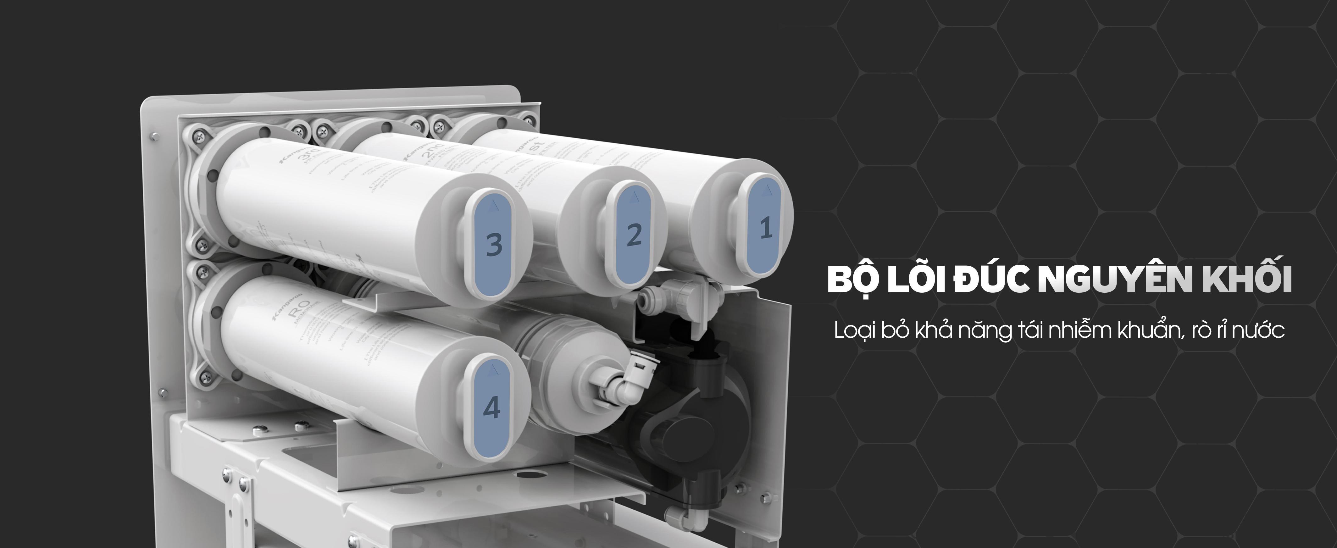 Lõi lọc của máy lọc nước RO - Kangaroo KG100HU đúc nguyên khối nhập khẩu