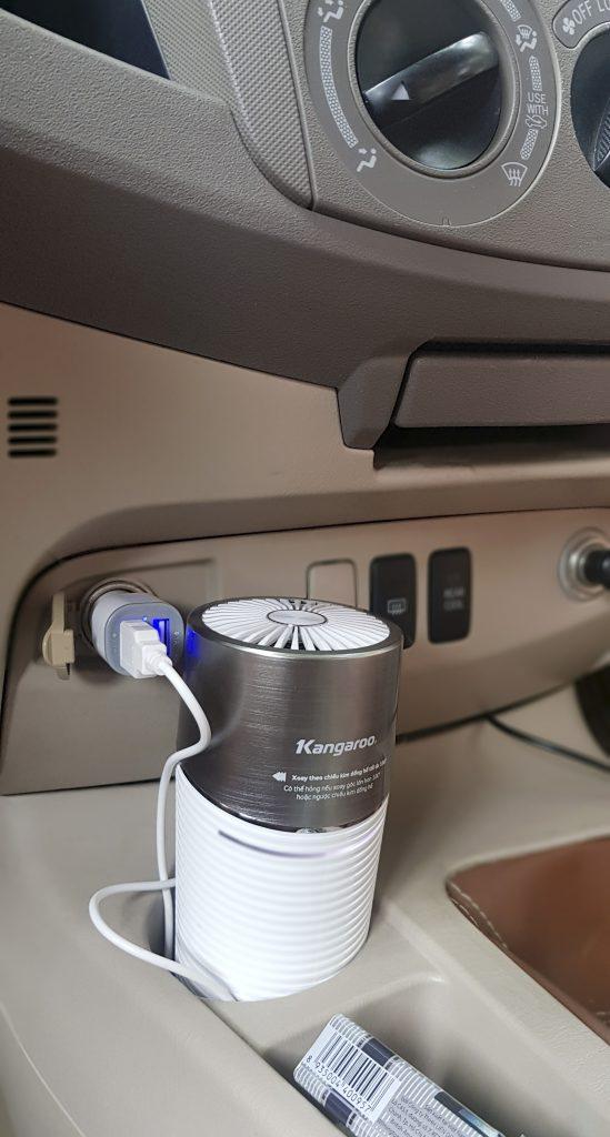 Máy lọc không khí với thiết kế nhỏ gọn dễ dàng sử dụng trong nhiều không gian khác nhau