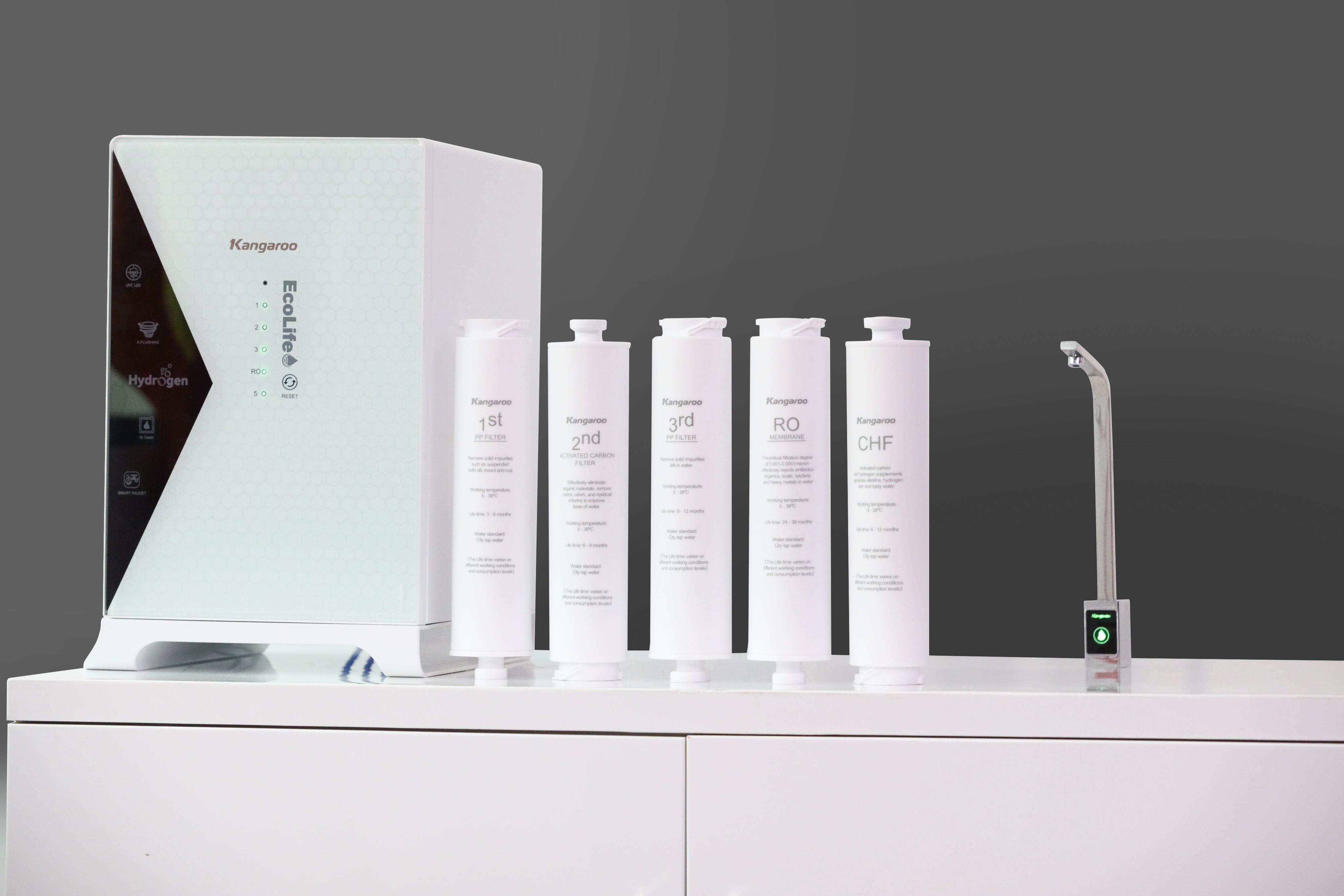 Sản phẩm máy lọc nước Kangaroo Hydrogen KG100HU+