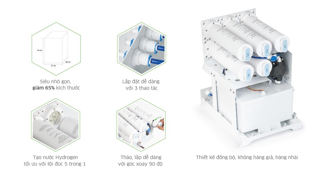 Tính năng sản phẩm Máy lọc nước Kangaroo Hydrogen LUX Series KG100HU+