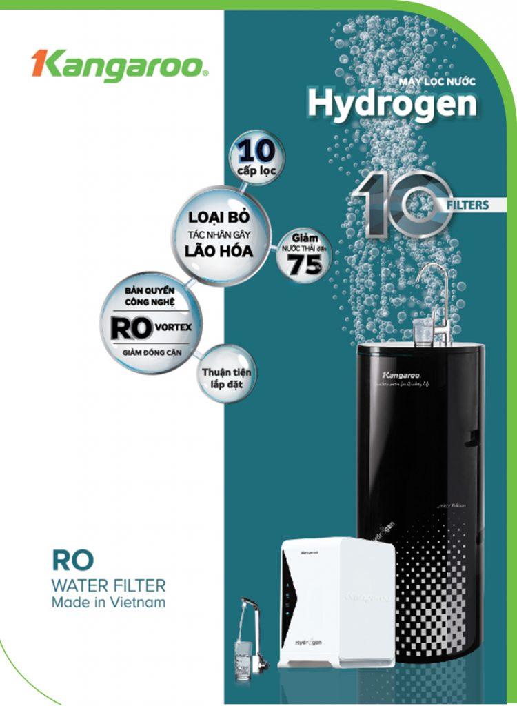 Máy lọc nước Kangaroo Hydrogen thế hệ mới 2019
