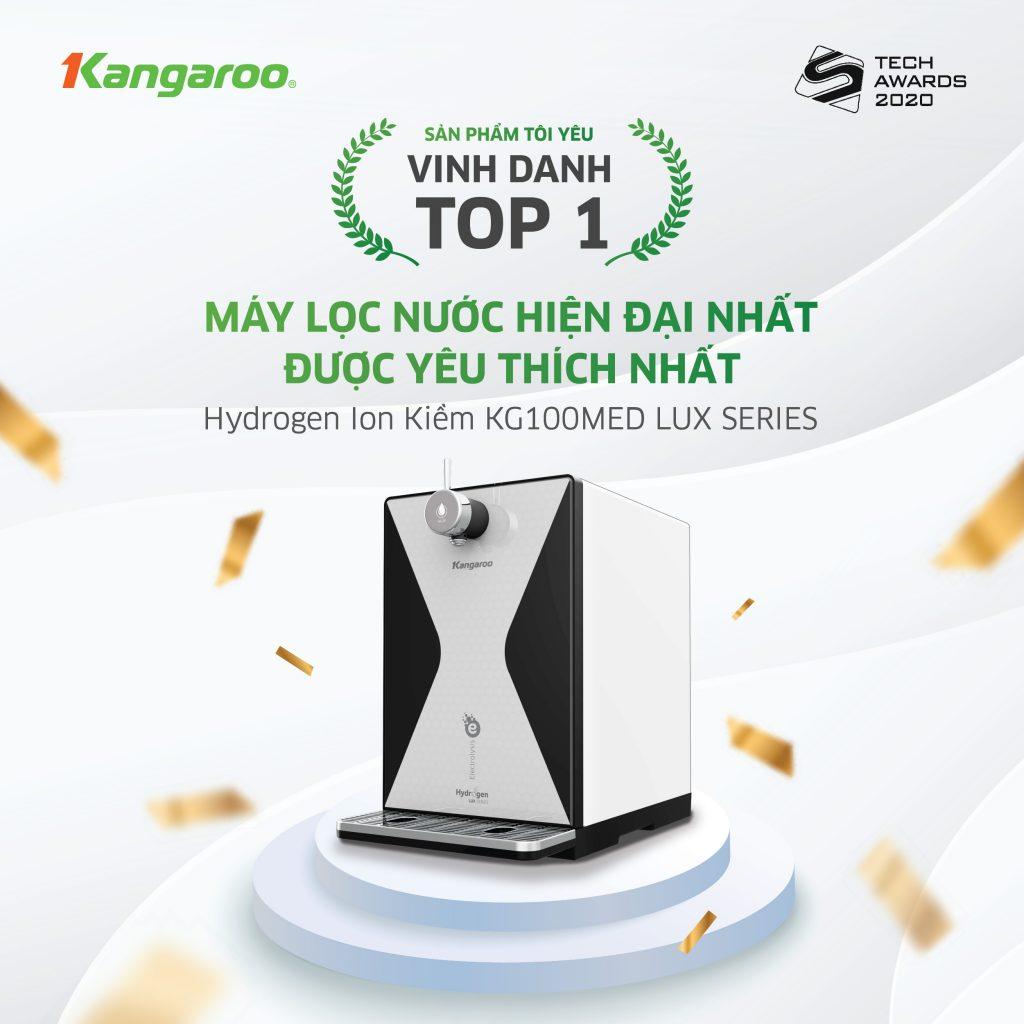 Kangaroo chiến thắng sự kiện máy lọc nước được yêu thích nhất
