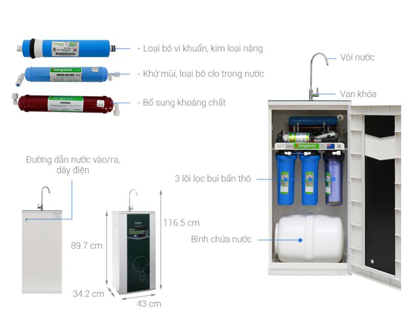 Máy lọc nước Kangaroo có giá dưới 5 triệu