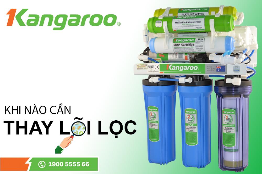 Thay lõi lọc nước Kangaroo