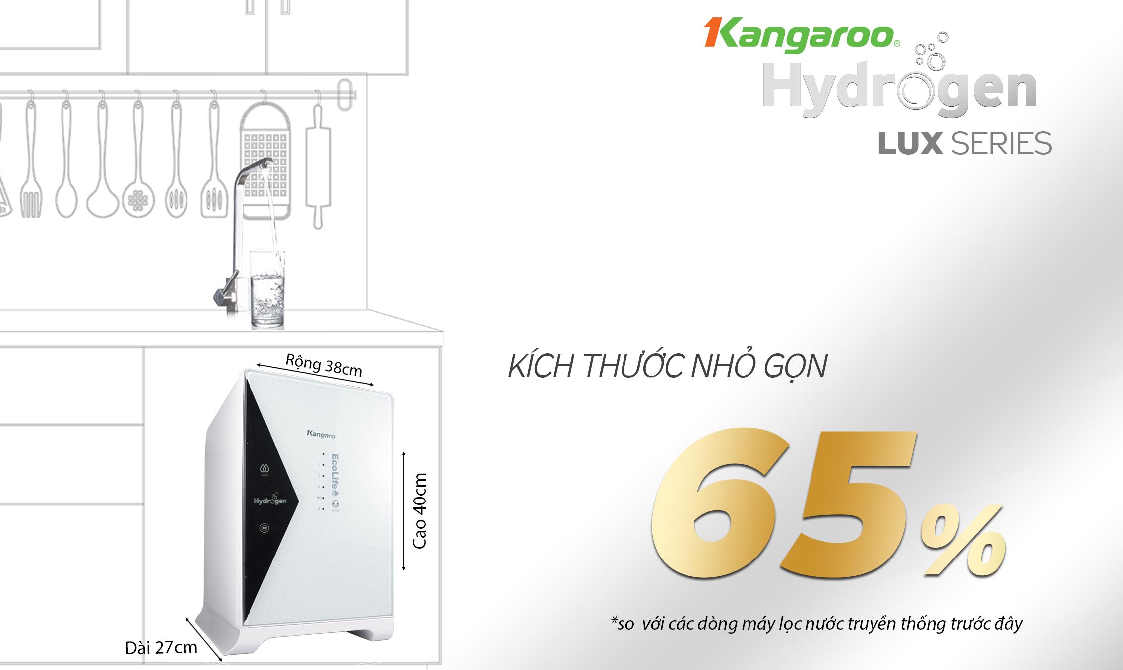 Thiết kế máy lọc nước Kangaroo Hydrogen KG100HU