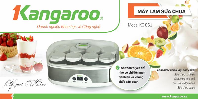 Máy làm sữa chua Kangaroo 8 cốc KG8S1
