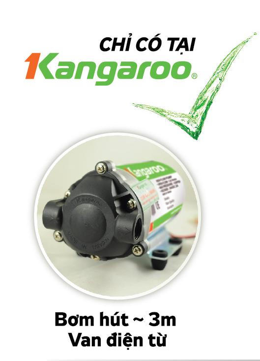 Bom hut sau 3m tren may loc nuoc RO Kangaroo