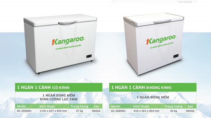 Các dòng tủ đông mềm phổ biến của Kangaroo