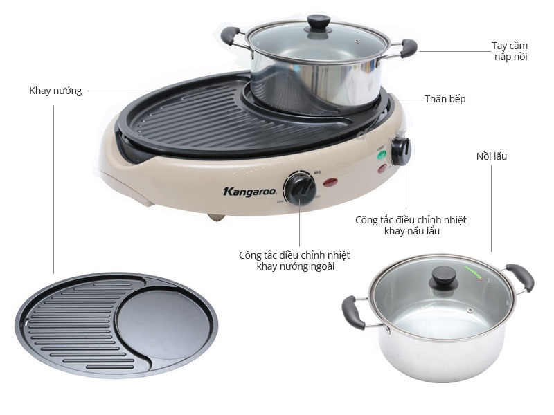Bếp nướng lẩu Kangaroo