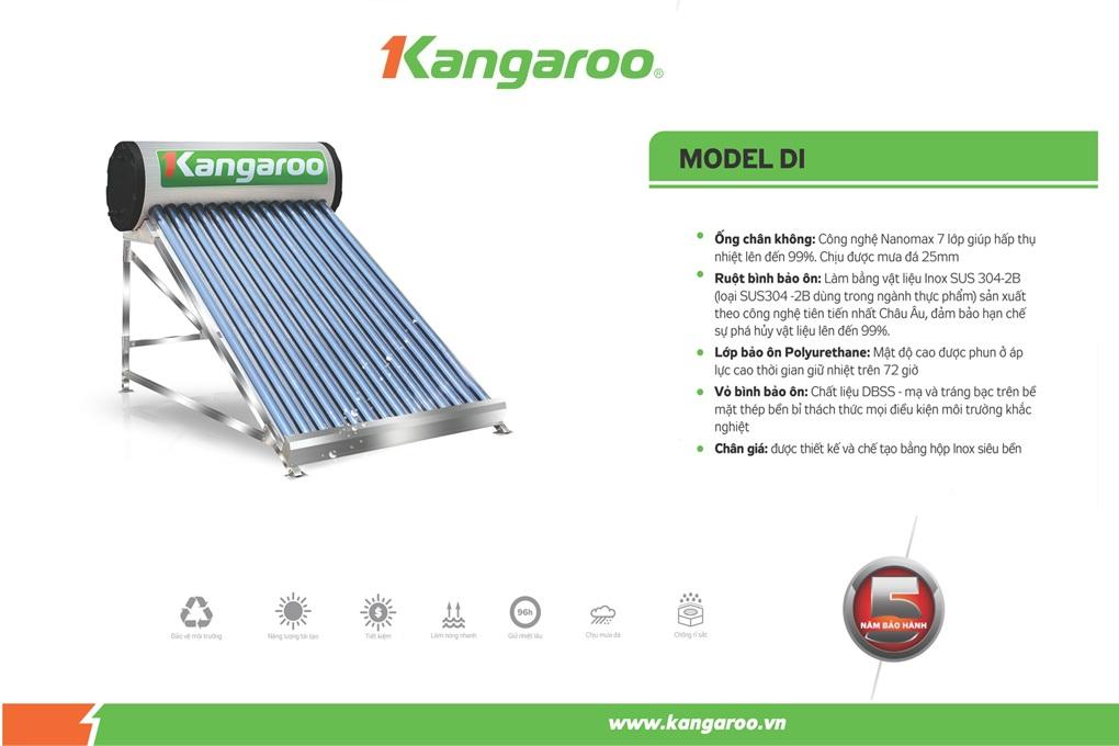 Máy nước nóng NLMT kháng khuẩn Kangaroo Model DI