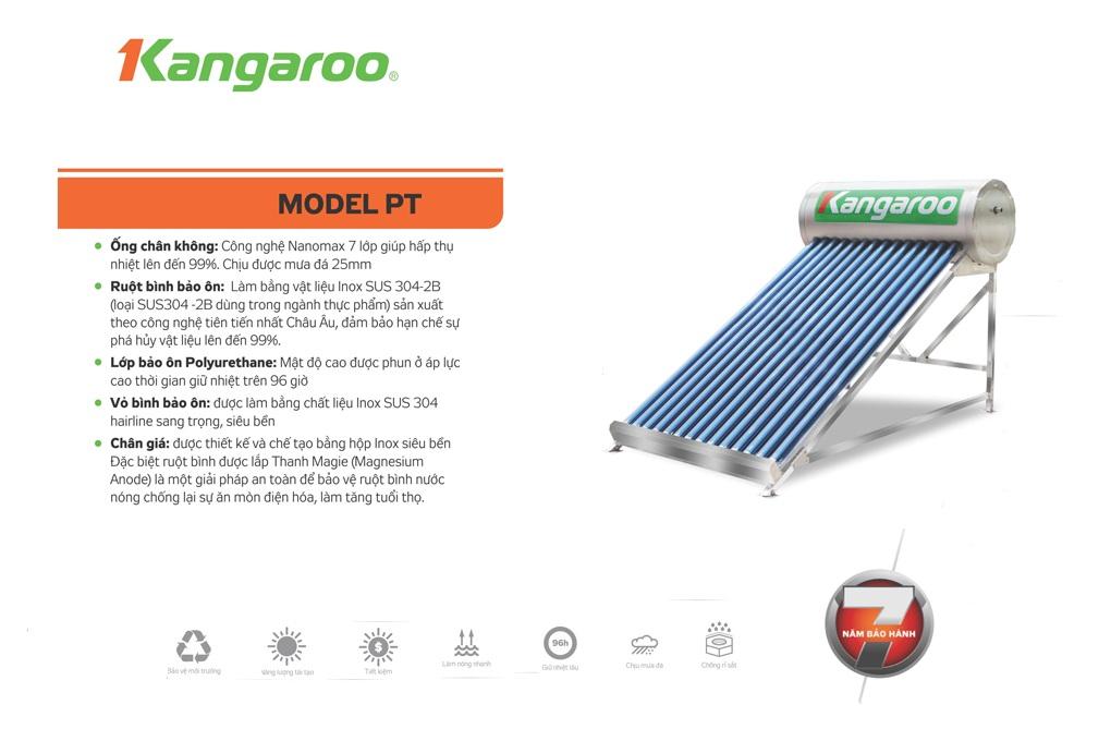 Máy nước nóng NLMT kháng khuẩn Kangaroo Model PT