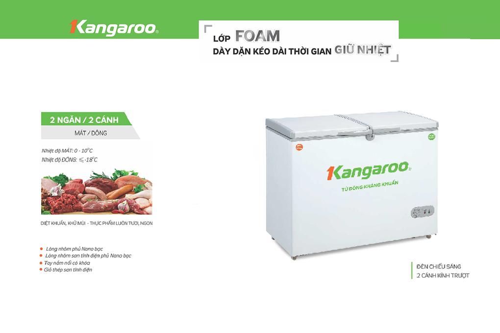Tủ đông kháng khuẩn Kangaroo KG296C2